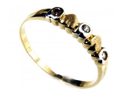 Prsten ze žlutého  zlata  G397