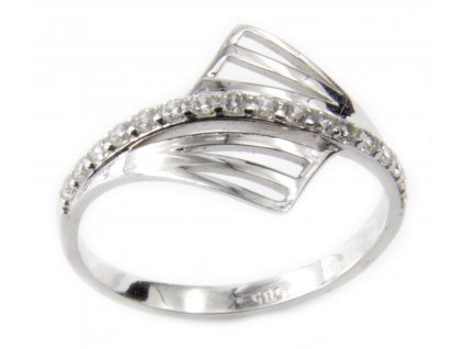 Prsten z bílého zlata G113