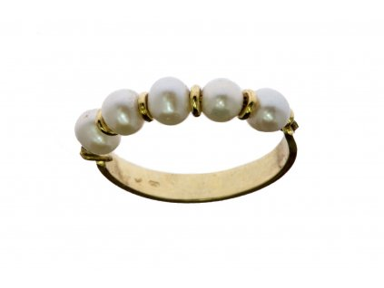 Prsten ze žlutého zlata G617