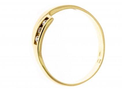 Prsten  ze žlutého zlata G654