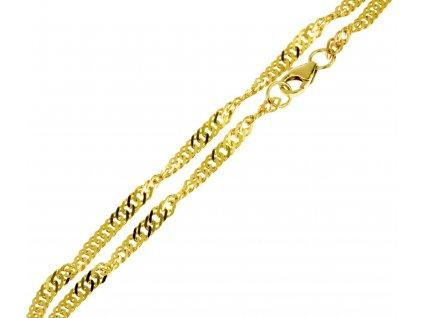Zlatý náramek D315