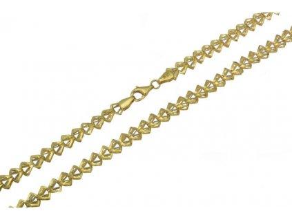 Ozdobný zlatý řetízek D925