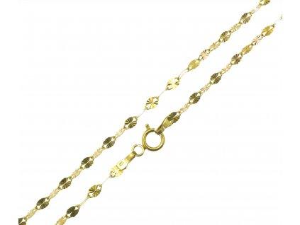Ozdobný zlatý řetízek D655