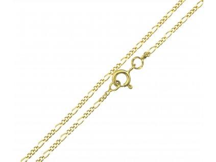 Zlatý řetízek  FIGARO K010
