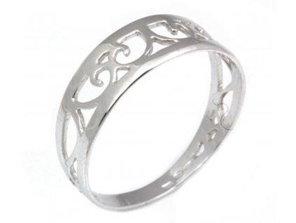 Prsten z bílého zlata G224