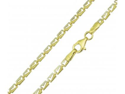 Řetízek ze žlutého zlata K096