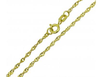 Náramek ze žlutého zlata D442