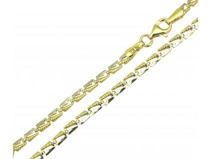 Náramek ze žlutého zlata D445
