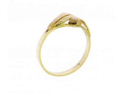 Zlatý prsten ze žlutého zlata G807a