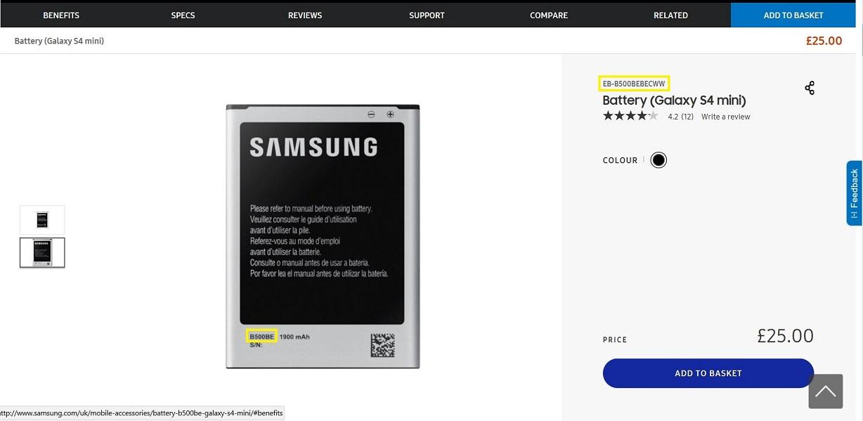 rozdílné označování firmou Samsung