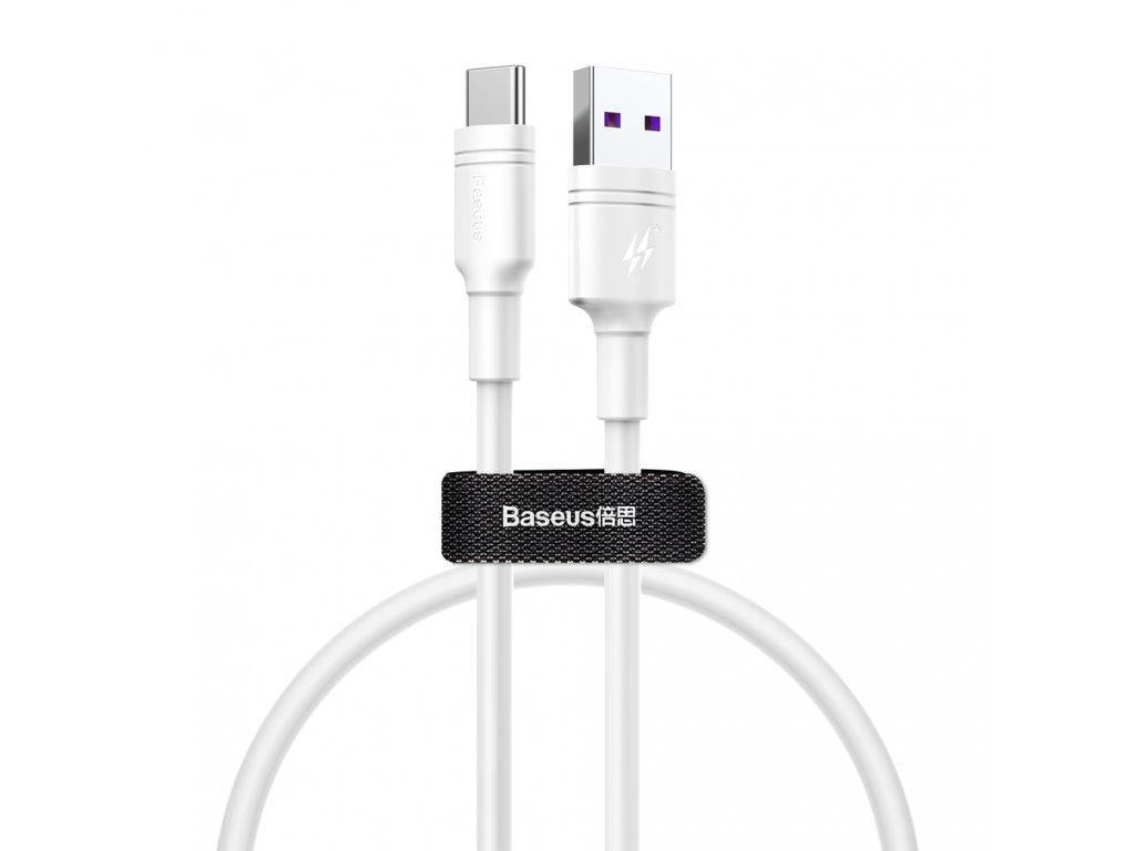 Baseus Double USB kabel - USB-C / 2m / 5A bílý CATSH-C02