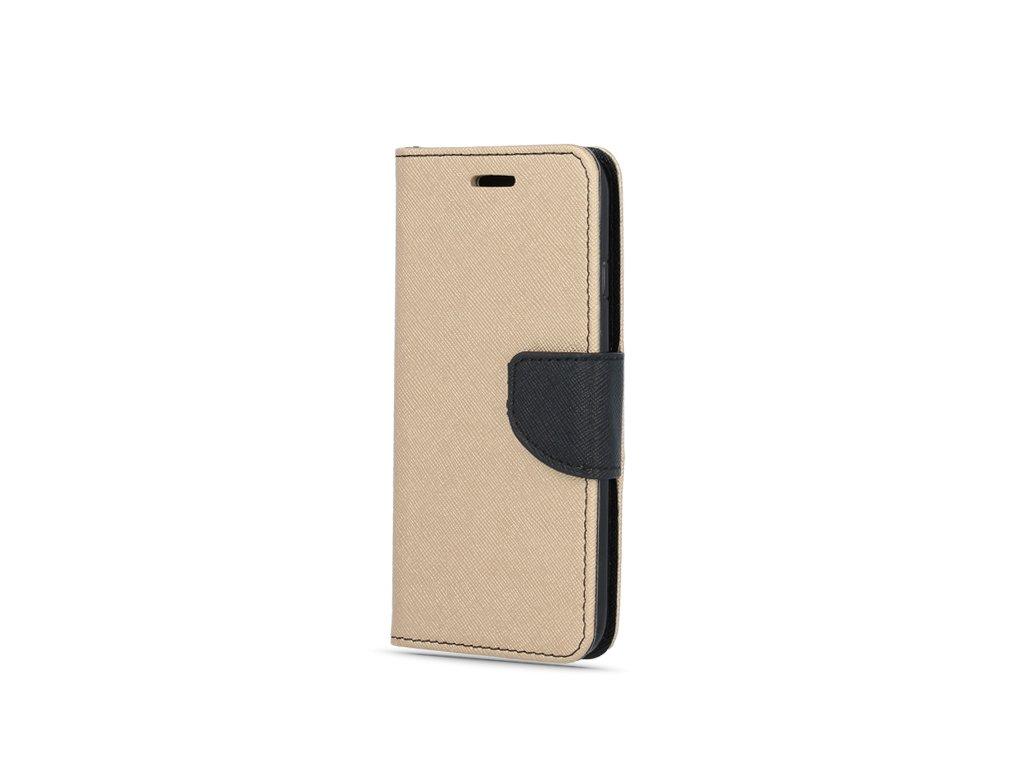 Smart Book pouzdro Huawei P30 Lite zlatá / černá (FAN EDITION)
