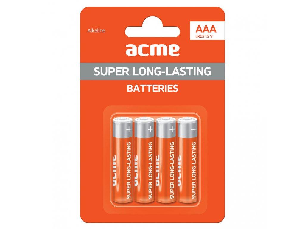 ACME baterie AAA alkaline LR03 / 4ks