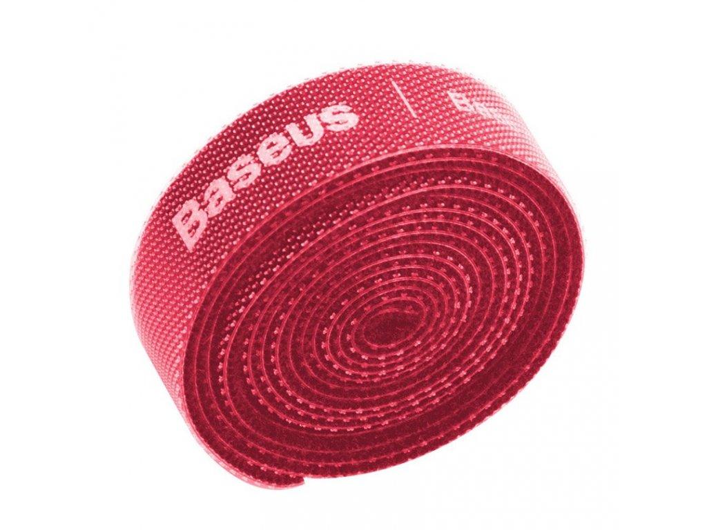 Baseus Rainbow Circle páska pro organizaci kabelů 3m - červená ACMGT-F09