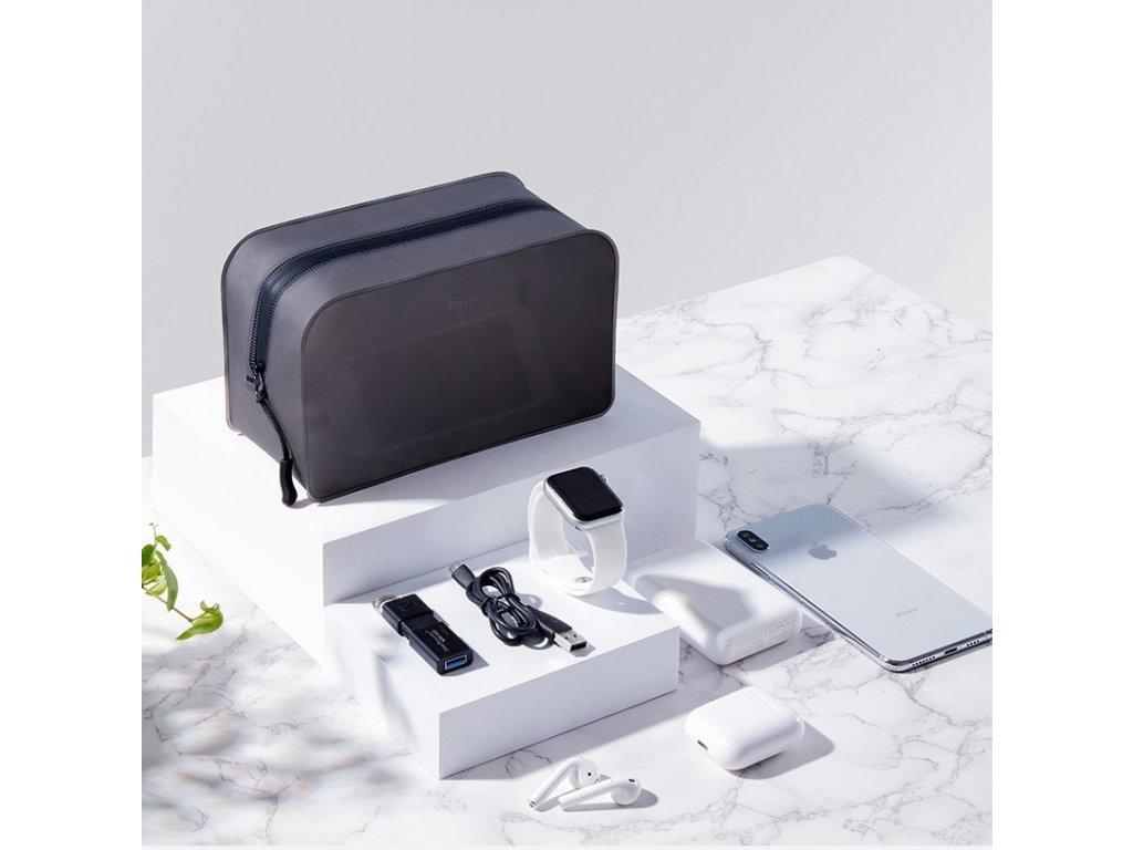 Baseus taška na příslušenství k mobilu TPU velikost L - černá LBZL-B01
