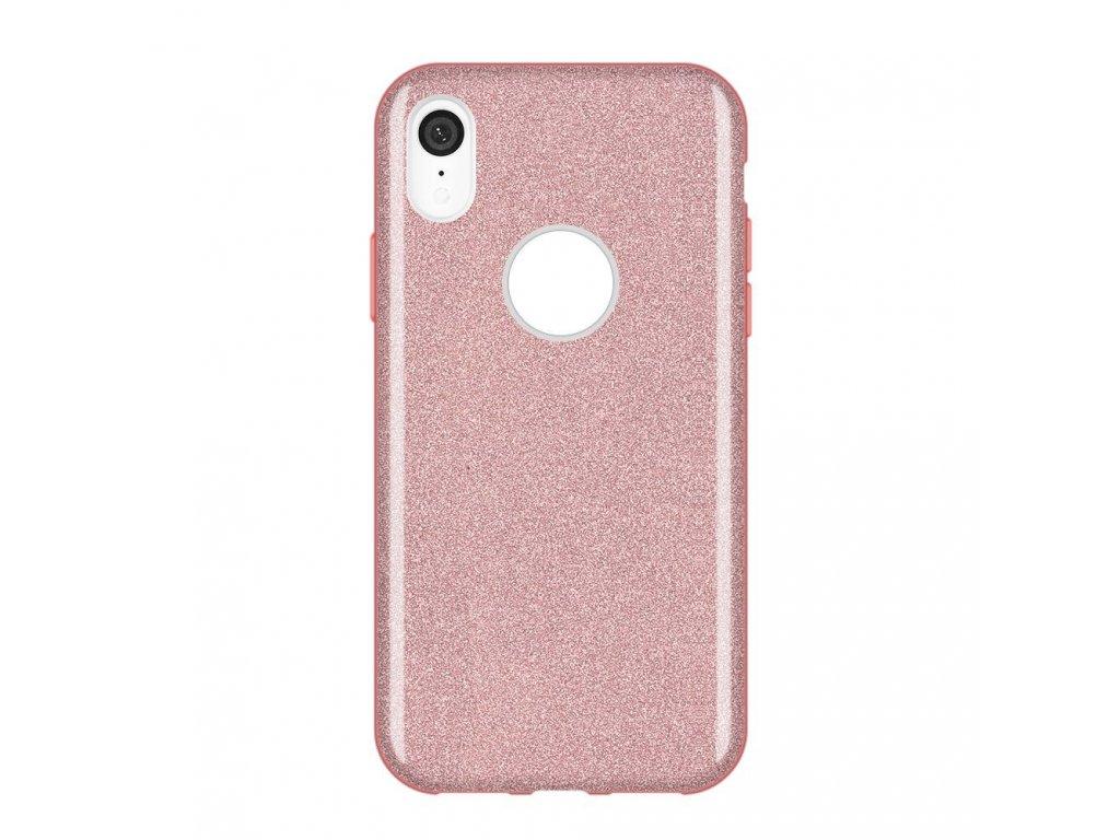 Pouzdro Glitter Case pro iPhone XR světle růžové