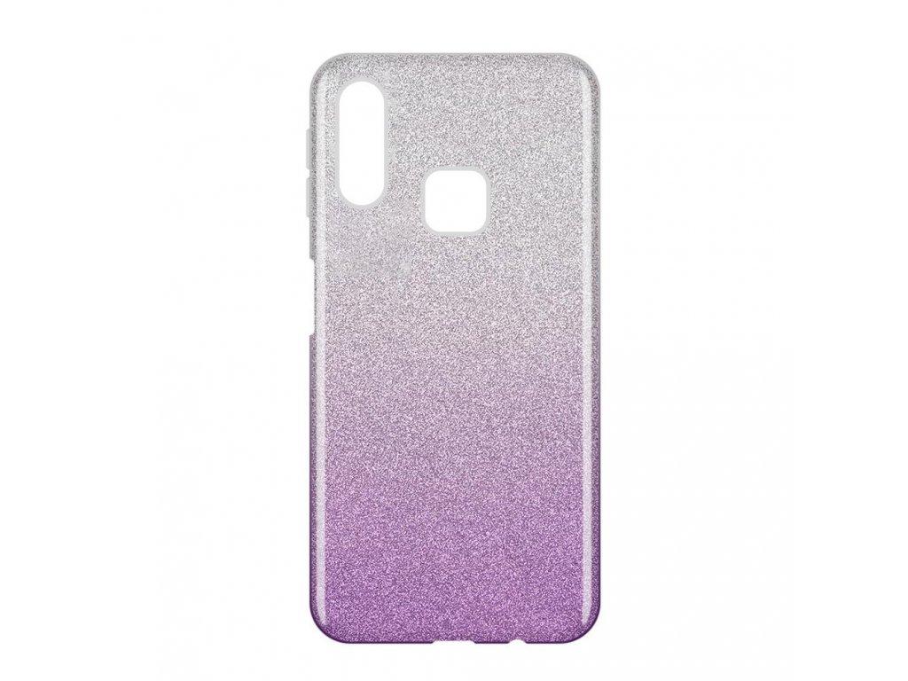 Pouzdro Glitter Case pro Samsung A40 fialové