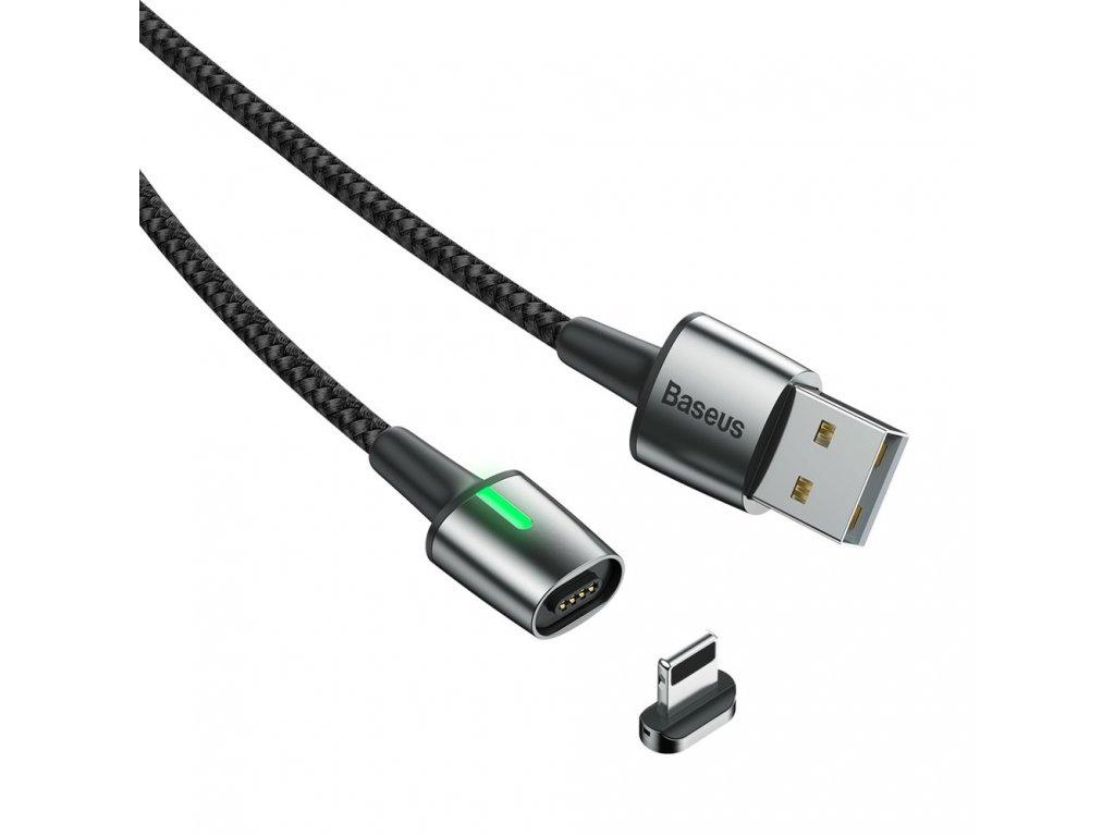 Baseus Zinc magnetický USB kabel - iPhone lightning 1m / 2,4A černý CALXC-A01