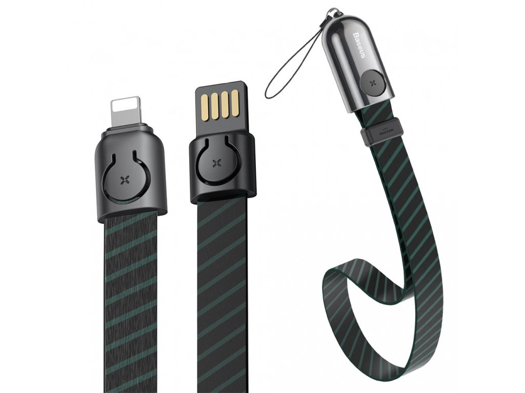 Baseus 2w1 poutko + USB kabel - iPhone Lightning / 0,35m / 2,4A black CALJL-AW1