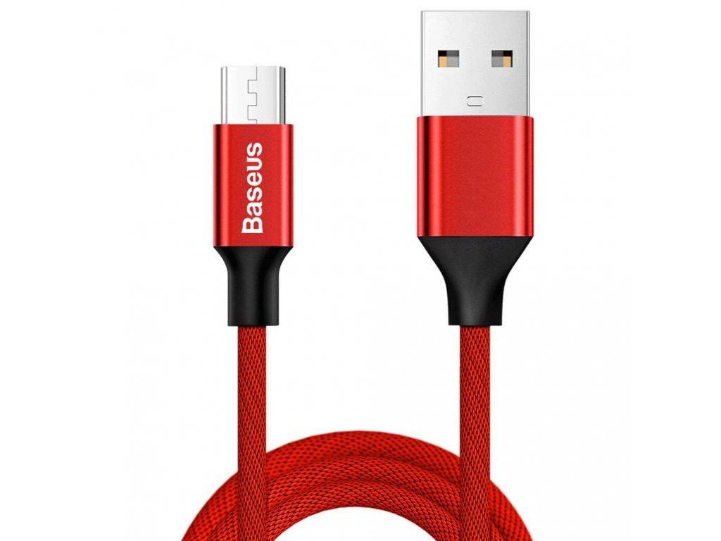 Baseus Yiven USB kabel - Micro USB / 1,5m / 2A červený CAMYW-B09