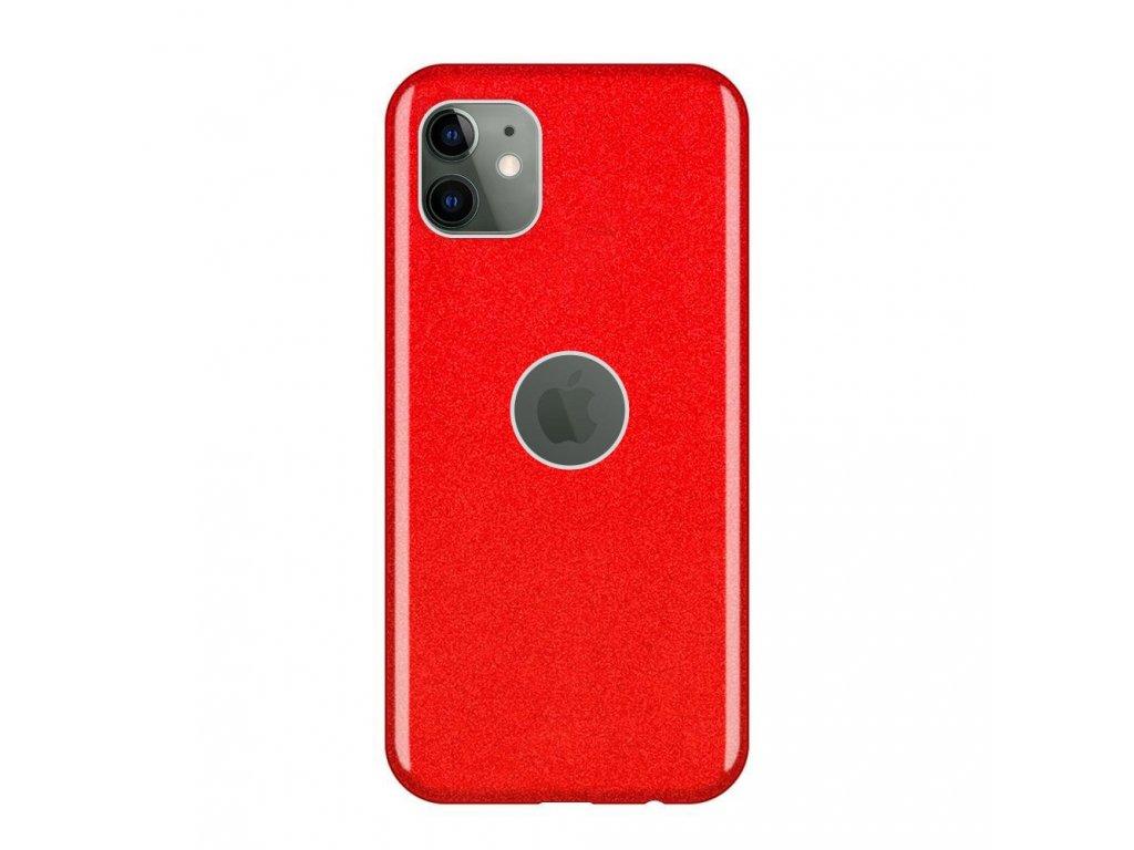 Pouzdro Glitter Case pro iPhone 11 červené