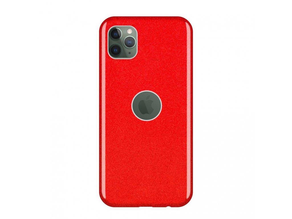 Pouzdro Glitter Case pro iPhone 11 PRO MAX červené
