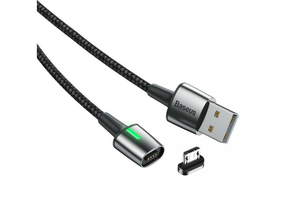 Baseus Zinc magnetický USB kabel - Micro USB 1m / 2,4A černý CAMXC-A01