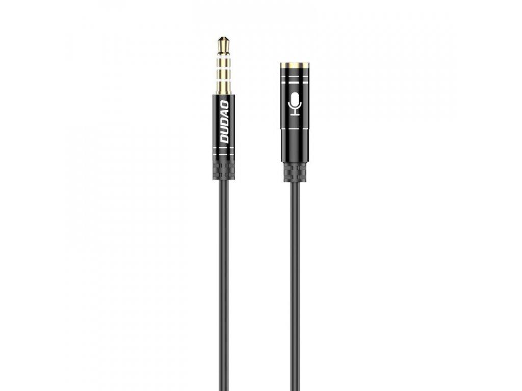 Dudao L11S Aux prodlužovací kabel 3,5mm jack (M) / 3,5mm jack (F) 4 pólový,bílý