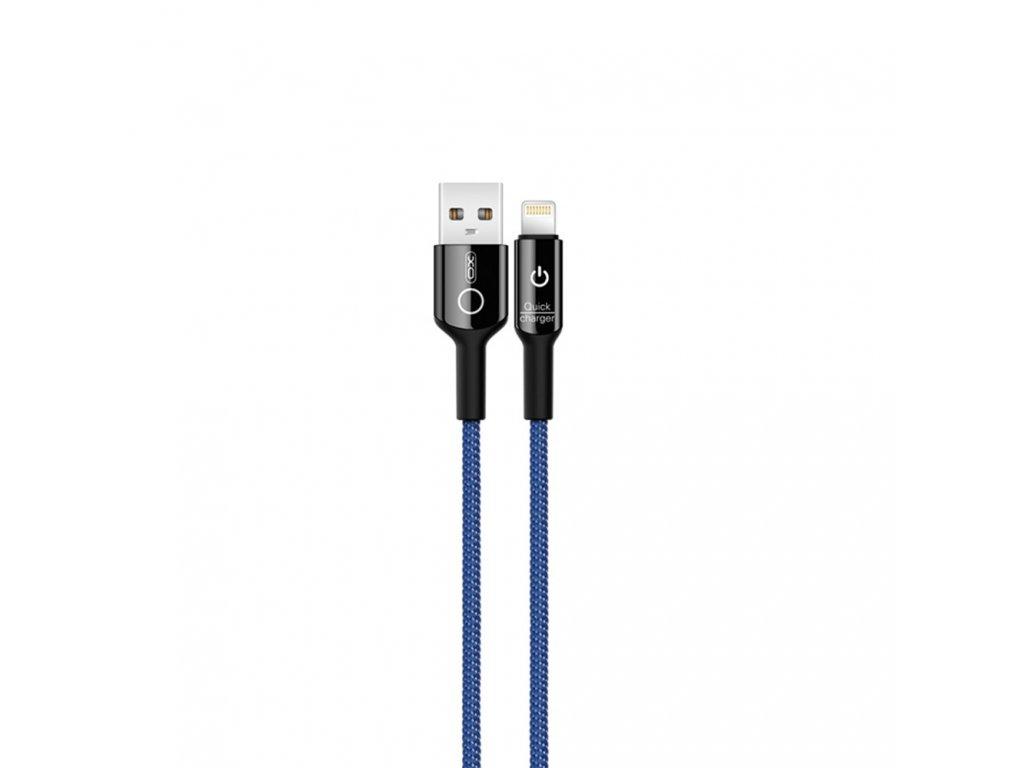 XO NB102 USB kabel - iPhone lightning 1m / 2,4A modrý