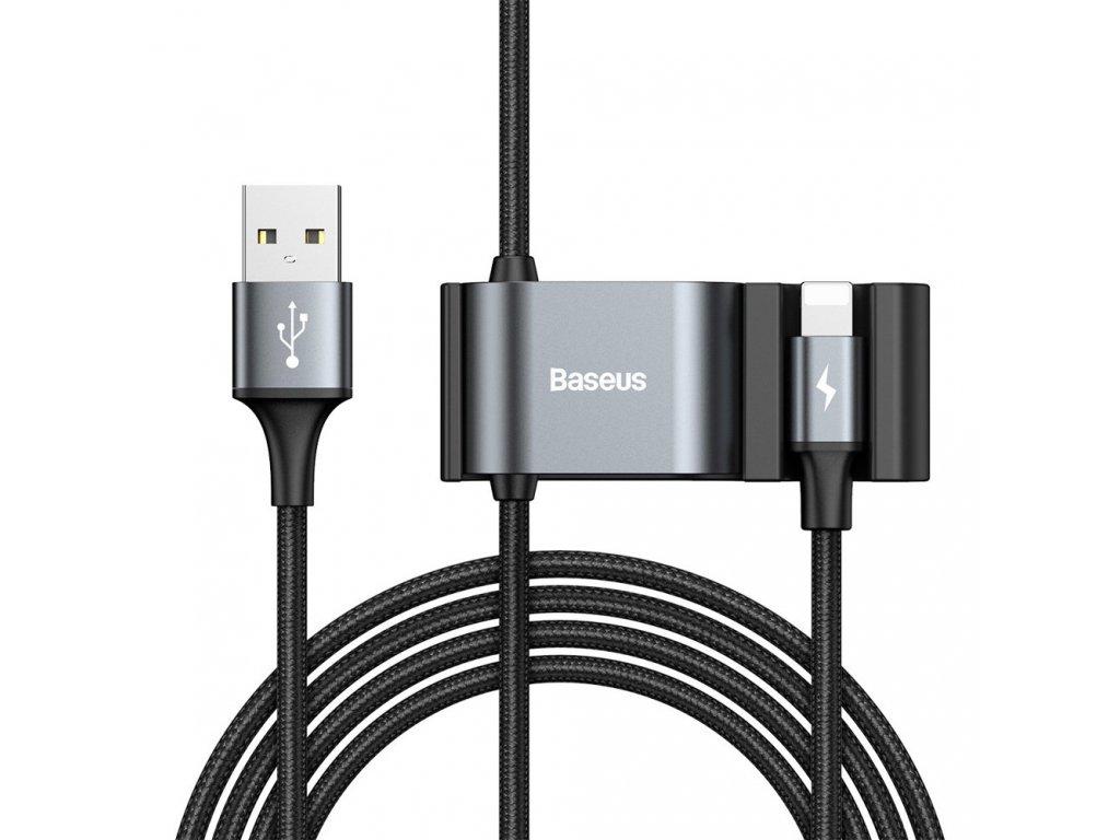 Baseus datový / dobíjecí kabel pro iPhone / do auta / + 2x USB HUB / CALHZ-01