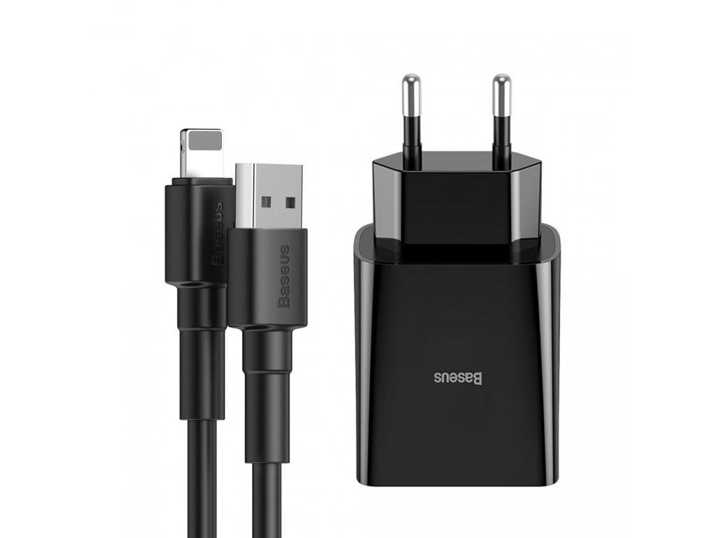 Baseus nabíječka s kabelem iPhone / 10,5W / 2,1A / 1m černá TZCCFS-R01