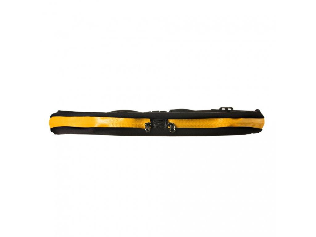 Sportovní pouzdro - ledvinka na mobil černá / žlutá dvojitá