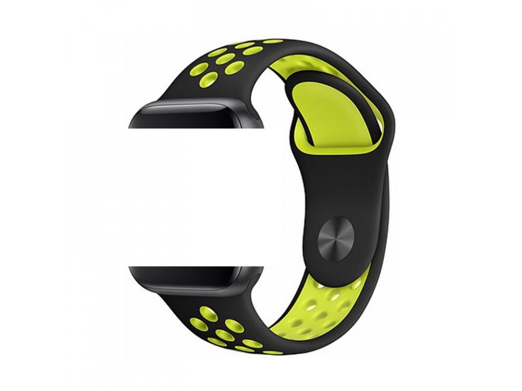 Devia Deluxe Sport řemínek k Apple Watch 1/2/3/4/5/SE 38mm/40mm žlutá/černá