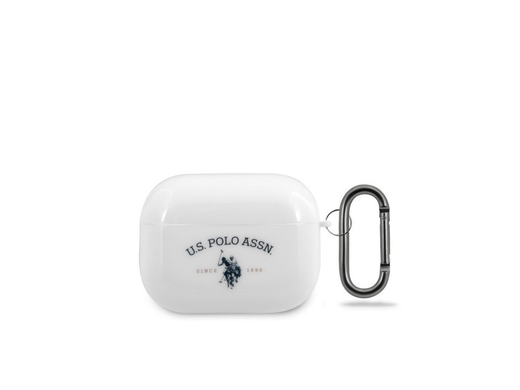 US Polo silikonové pouzdro pro Apple AirPods PRO bílé USACAPTPUWH