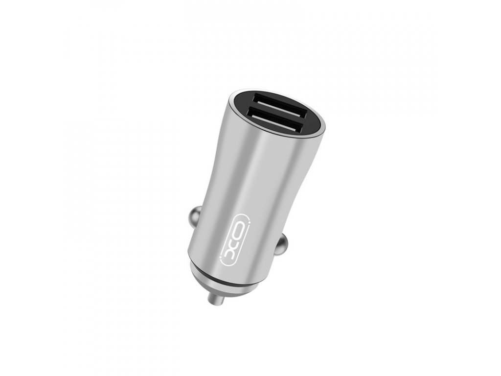 XO CC28 nabíječka do auta 2x USB / 3,5A stříbrná