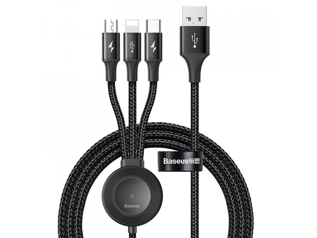 Baseus Star Ring USB datový kabel 4v1 Micro USB / USB-C / Apple + Watch / 1,2m - 3,5A