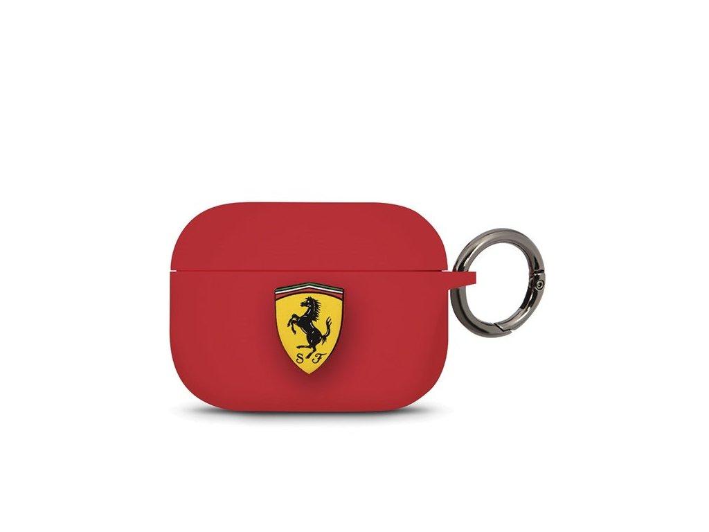 Ferrari silikonové pouzdro pro Apple AirPods PRO červené FEACAPSILGLRE