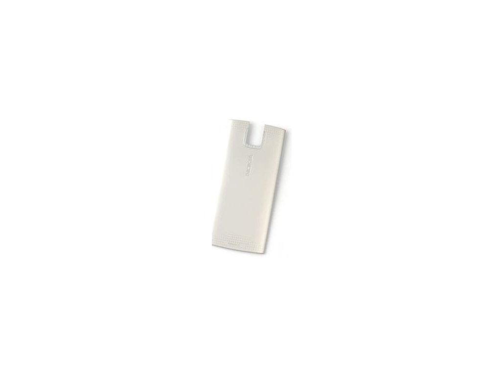 NOKIA X3-00 zadní kryt silver / stříbrný