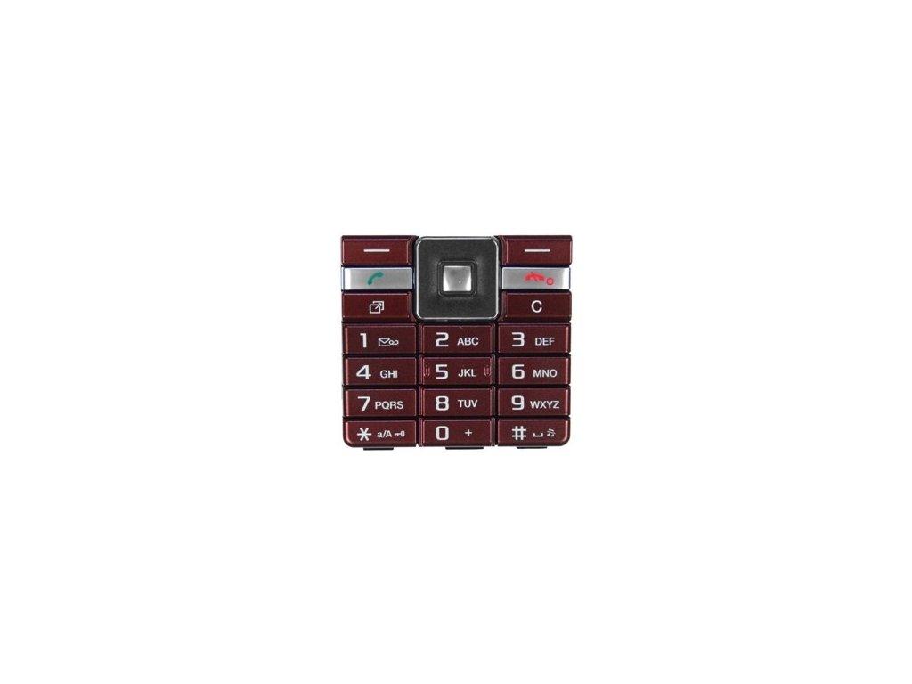 SonyEricsson J105i Naite klávesnice red / červená