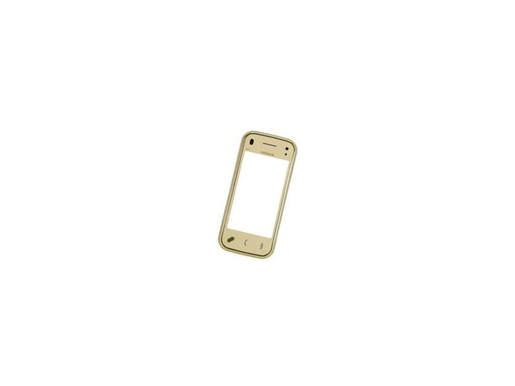Dotyková deska + sklíčko + přední kryt pro NOKIA N97 mini gold - originál