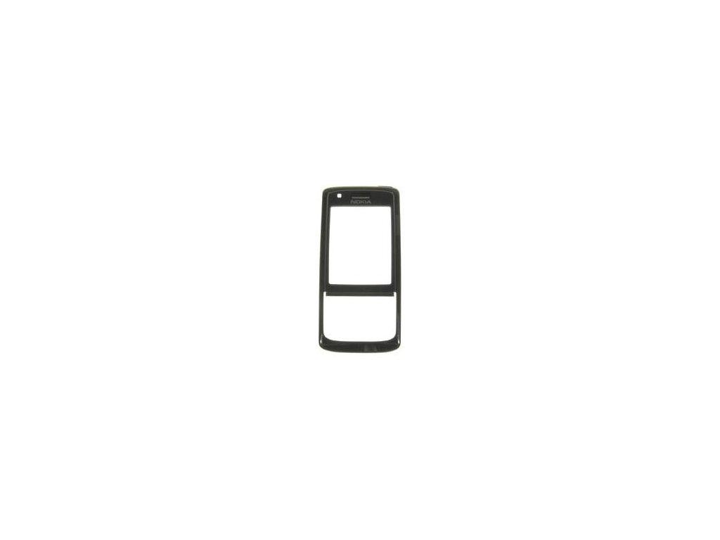 NOKIA 6288 přední kryt black / černý (logo)