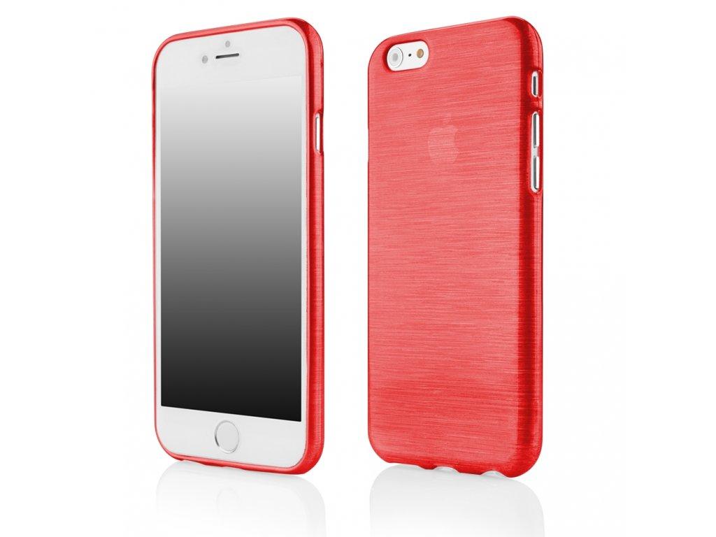 """Pouzdro JELLY Case Metalic iPhone 6 / 6S (4.7"""") červené"""