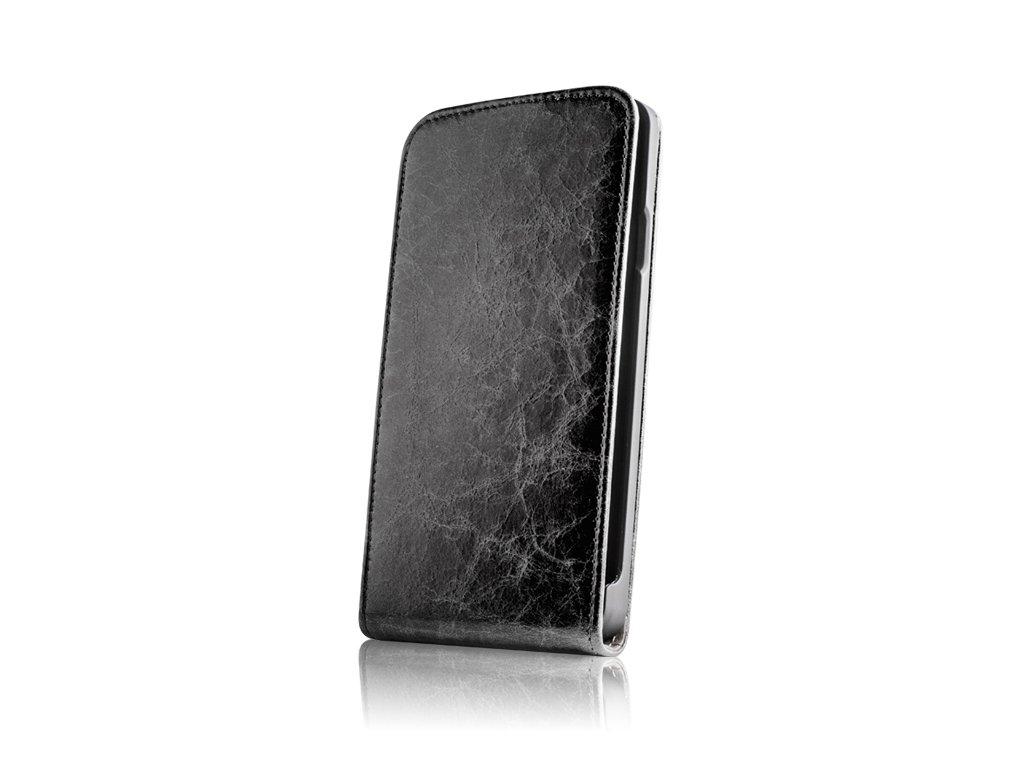 SLIGO Leather vyklápěcí kožené pouzdro Sony C1505 Xperia E černé