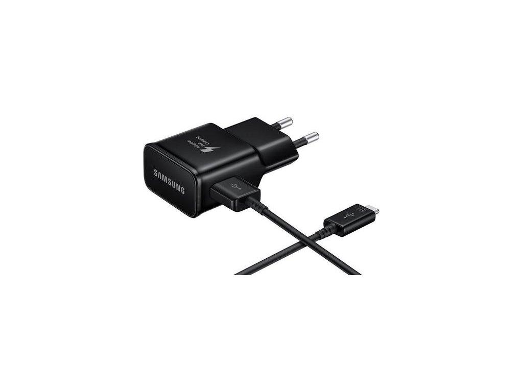 SAMSUNG EP-TA20EBE nabíječka + kabel black (bulk) 2000mA