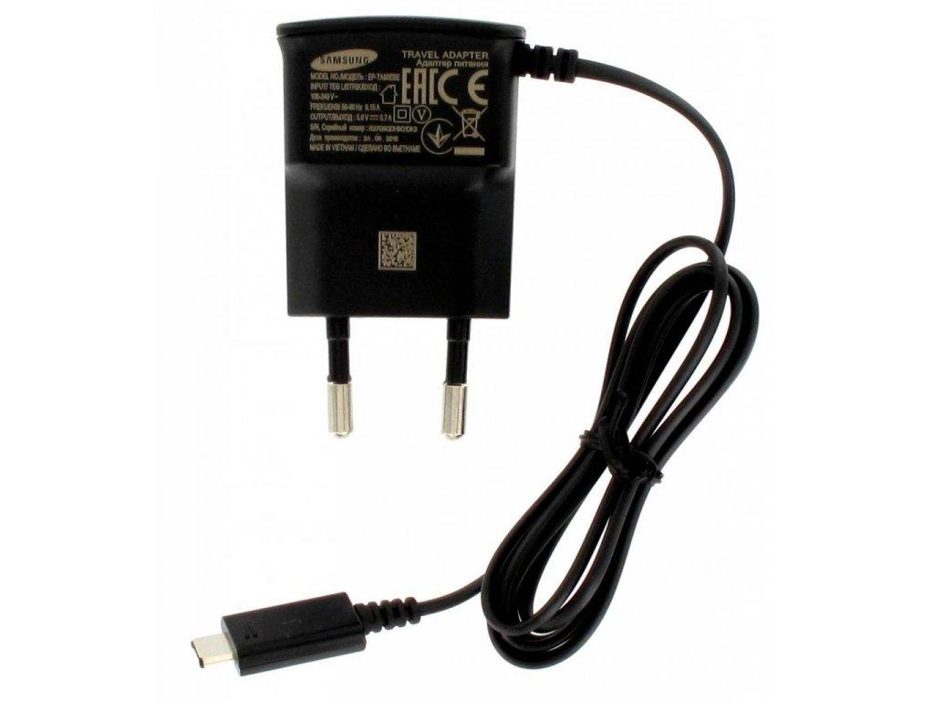 SAMSUNG EP-TA60EBE nabíječka micro USB black / černá (bulk)