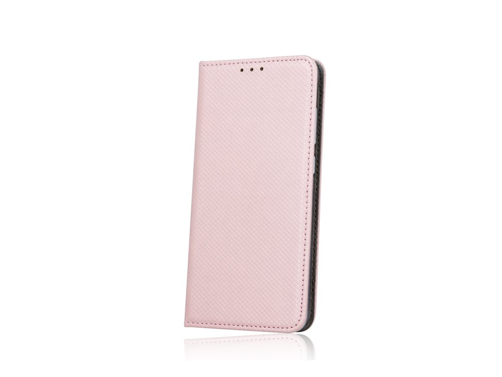 Pouzdro Smart Magnet pro Huawei Y6 2017 / Y5 2017 růžovozlaté