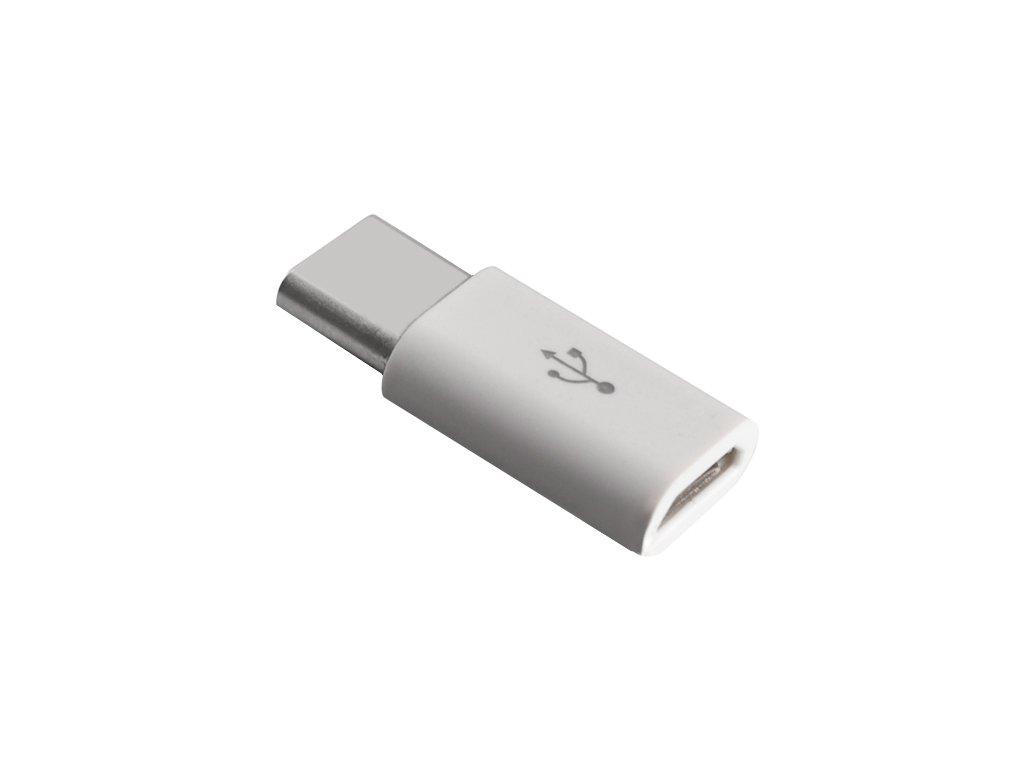 OEM adaptér Micro USB - USB-C bílý