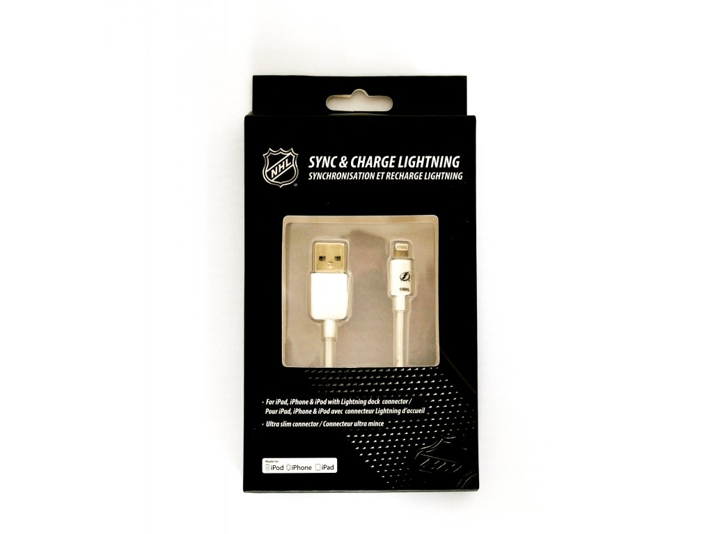 NHL lightning datový kabel pro iPhone / MFI - Tampa Bay Lightning - LGX-11206