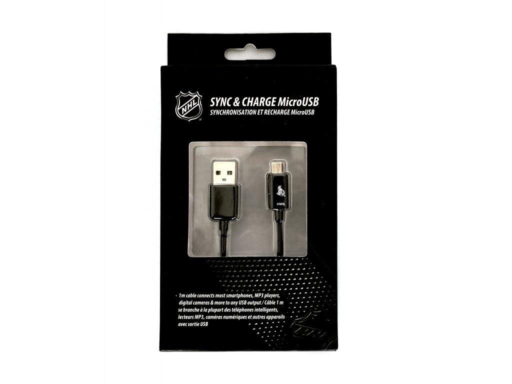 NHL LGX-11235 micro USB datový / dobíjecí kabel - Otawa Senators