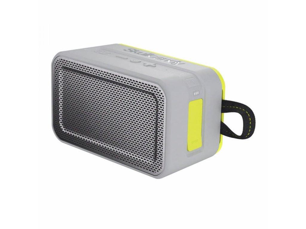 SkullCandy Barricade XL wireless speaker, gray / hot lime S7PDW
